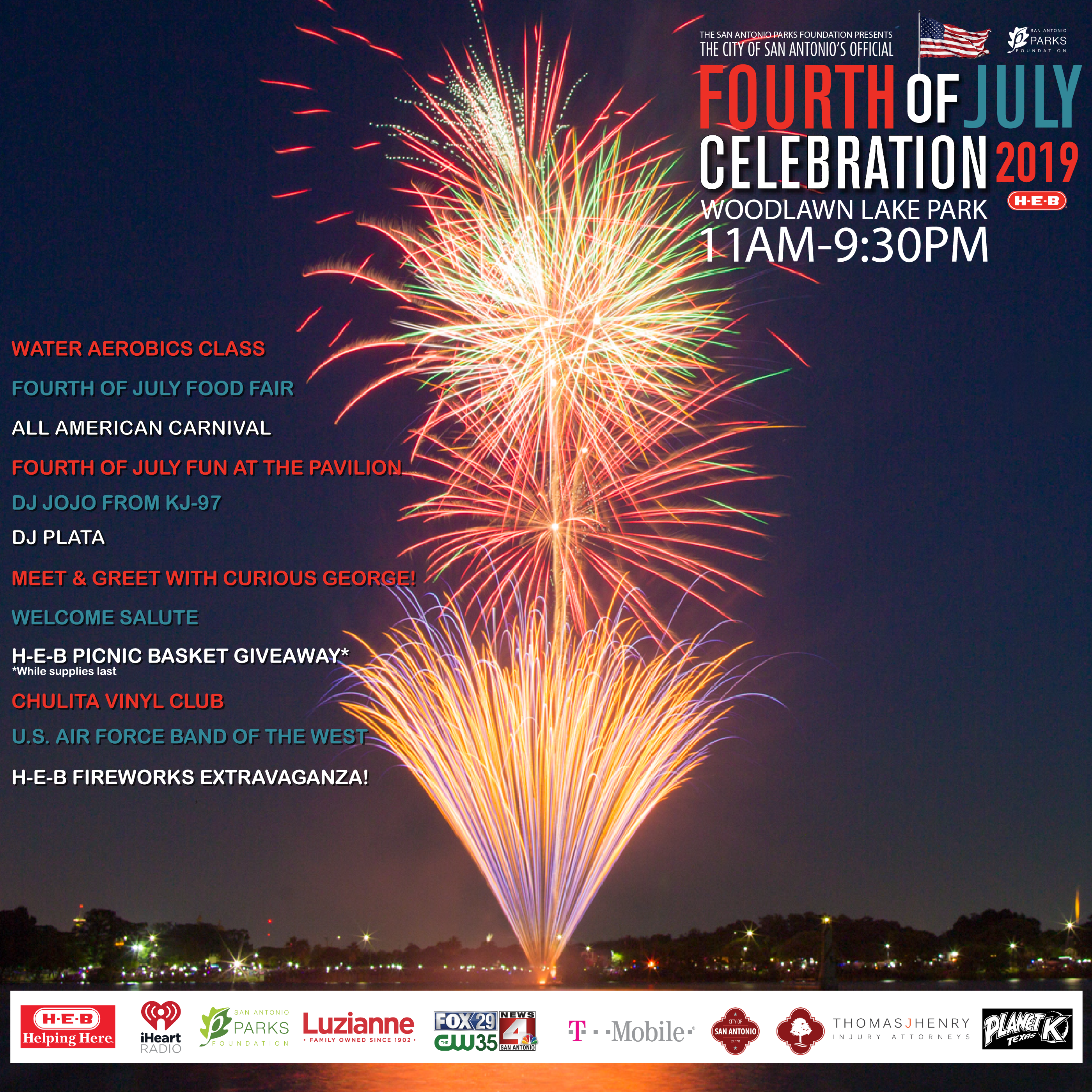 Fourth of July Celebration - San Antonio Parks Foundation